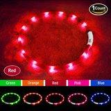 Lichtgevende halsband honden rood