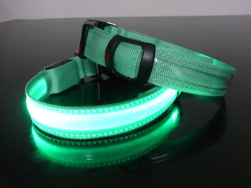 Led Hondenhalsband type 1 small groen