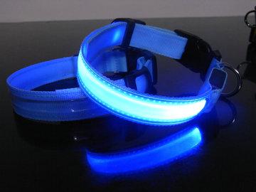 Led Hondenhalsband kleur blauw