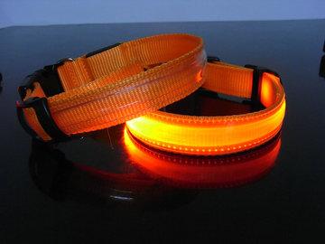 Led Hondenhalsband Kleur Oranje