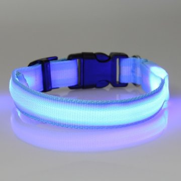 led hondenhalsband type 2 blauw large