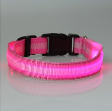 led hondenhalsband type 2 roze large