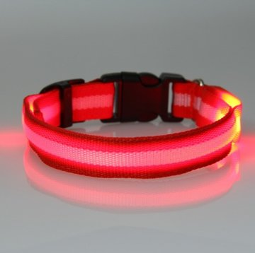 led hondenhalsband type 2 rood large