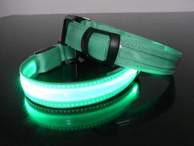 Led HondenHalsband kleur groen