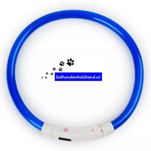 led hondenhalsband type 4 blauw