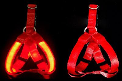LED hondentuig USB oplaadbaar Rood