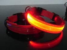 Hondenhalsband Met Licht : Led hondenhalsband type roze large