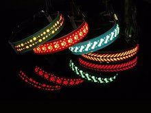Led hondenhalsband usb oplaadbaar waterproof