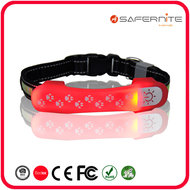 Led Hondenhalsband Cover Waterproof Rood